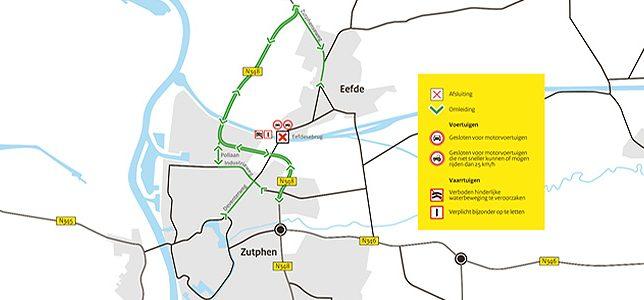 Brug Twentekanaal afgesloten, omleiding via Polbrug